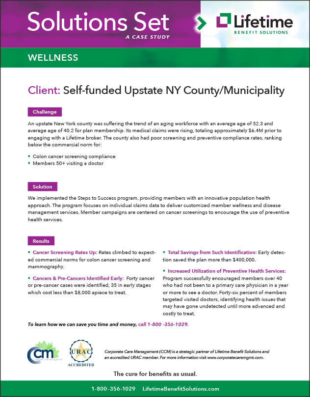 Self Funded Upstate Ny County Municipality Case Study